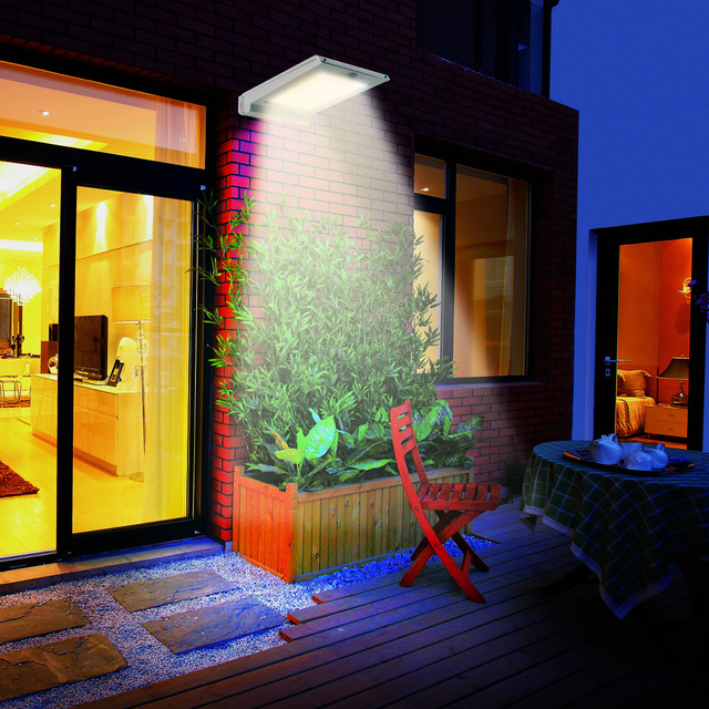 Solar Powered 25LEDs Human Body Motion Sensor Wall Lamps Water-Resistant for Pathway Outdoor Stair Step Garden Yard Courtyard