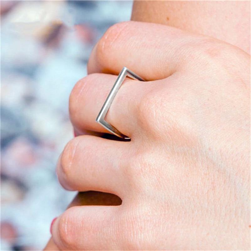 Image 5 - 100% 925 Anéis de Prata Esterlina Para Mulheres Escritório  Minimalis Design Simples Anel Trendy Acessórios Fine Jewelry Anillos  MujerAnéis
