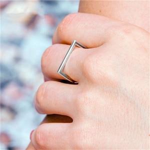 Image 5 - 100% 925 כסף סטרלינג טבעות לנשים Minimalis משרד פשוט עיצוב טבעת תכשיטים טרנדי אביזרי Anillos Mujer