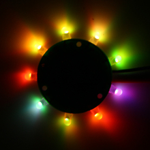 Круглый светильник красочный-RGB светодиодный электронный DIY KIT