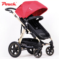 Pouch Baby Stroller Aluminum Alloy Frame Carriage Highlandscape Pram Rubber Wheel Pushchair