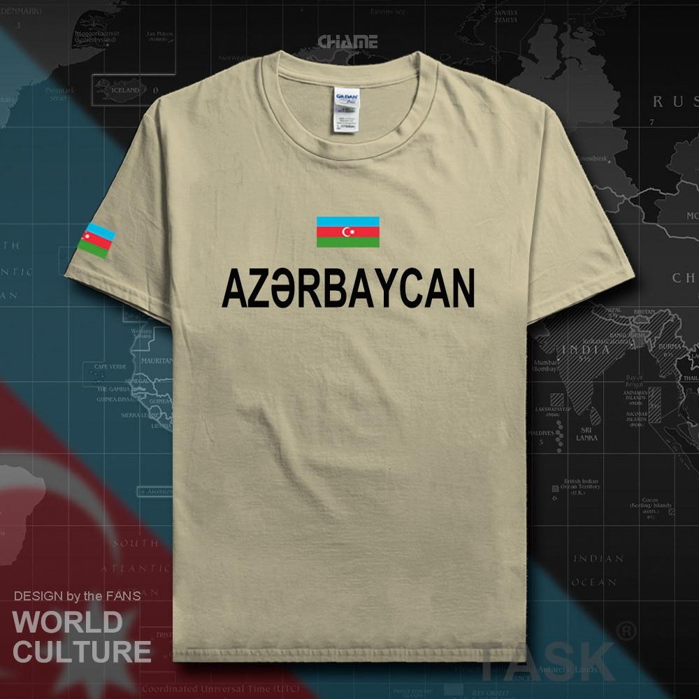 Azerbaijan Azerbaijani men t shirts fashion 2017 jerseys nation team 100% cotton t-shirt clothing tees country sporting flag AZE