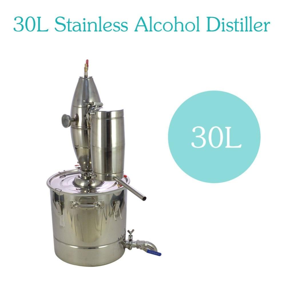 30L Produzione di Vino in acciaio inox Caldaia Birra Fatta in Casa Kit Alcol Distillatore