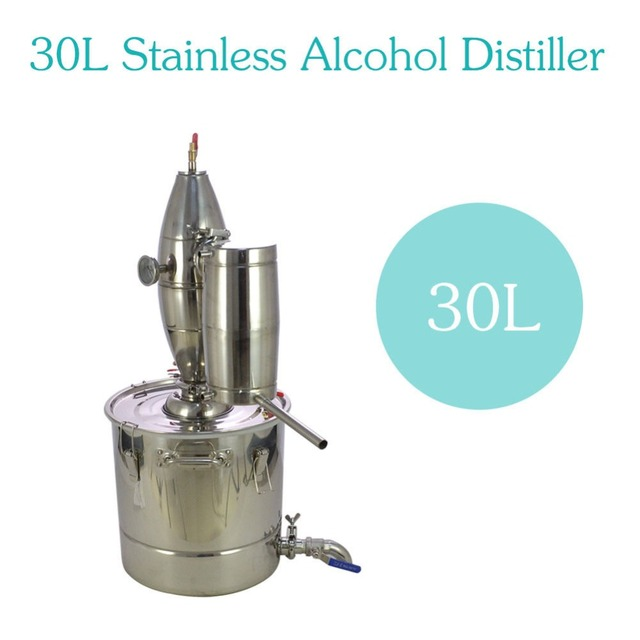 30L paslanmaz çelik şarap yapımı kazan ev demlemek kiti imbik