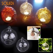 Nordic Hanging Crystal Glass Candlestick Classic Candle Holder Wedding Bar Party Home Decor