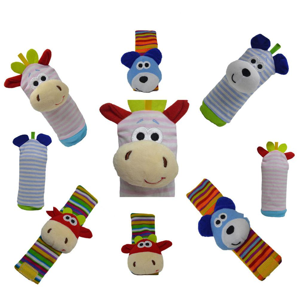 1PC/Set Baby Wrist Rattle Socks Puzzle Strap Toy -Long cotton socks With rattle