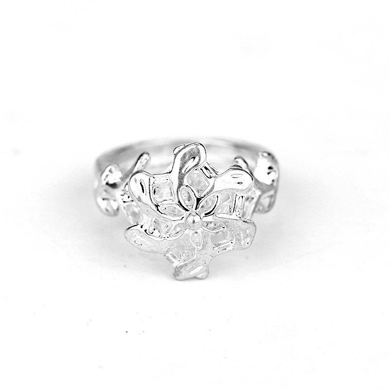 daughter silver mother knotted three in one sterling rings