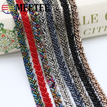 2Yards Pearl Lace Trim Vintage Beaded Ribbon Fabric Sequins Wedding Dress Collar Sleeve Applique DIY Crafts