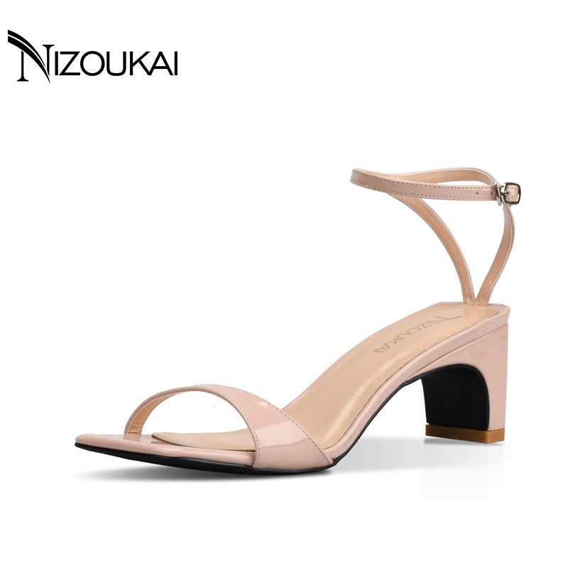 2017 Ankle Strap High Heels Sandals Women Summer Shoes Women Open Toe Chunky High Heels Party Dress Sandals Plus Size 42 lfc1-q6 2017 women s shoes high heels sandals open toe gladiator sandals ankle strap stappy summer casual sandals for girls hoof heels