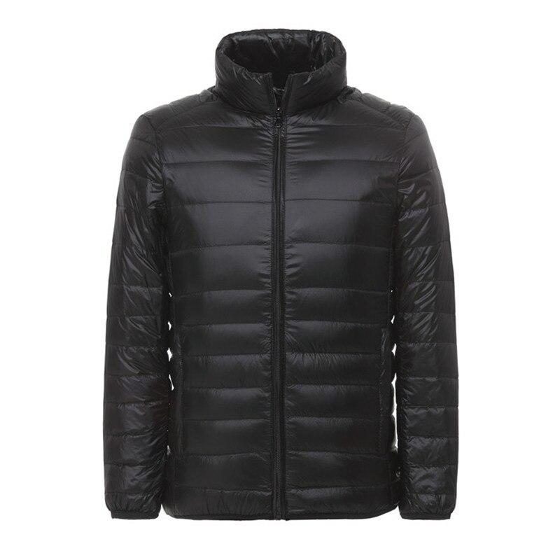 90% White Duck Wadded Down Coats Male Stand Collar Waterproof Windbreaker Puffer Warm Winter Ultra Light Jacket Men Ultralight
