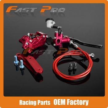 Front Brake System For CRF CR125 CR250 CRF250R CRF450R CRF250X CRF450X Brake Lever Master Cylinder Hose Big Caliper Adaptor