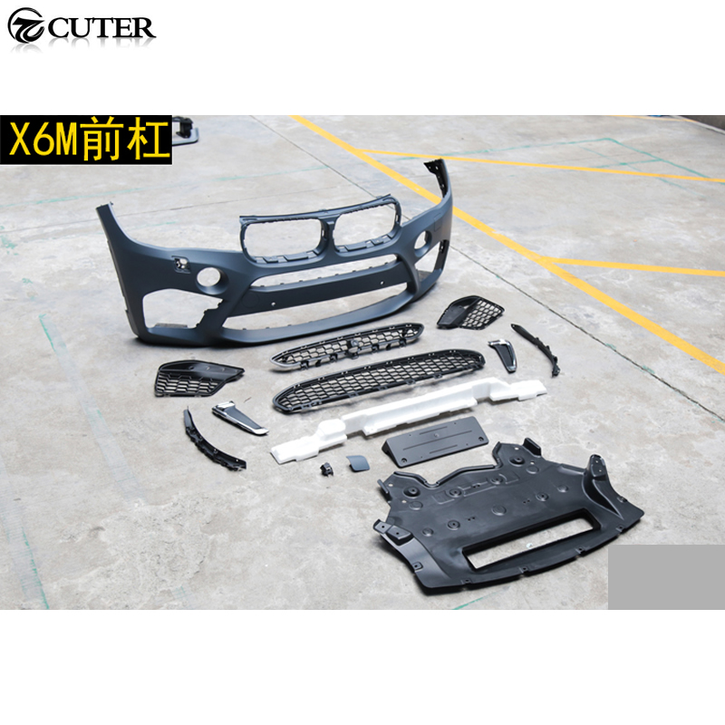 F16 X6 Unpainted Car Body kit X6M Style front bumper rear bumper for BMW F16 X6 X6M 2014UP in Bumpers from Automobiles Motorcycles