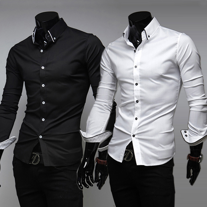 Black Fitted Shirt Mens | Is Shirt