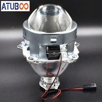 Supper Bright Upgrade 3.0 Full Metal Projector Lens For H4 H7 Car Motorcycle Headlight Used H1 Hid Bulb