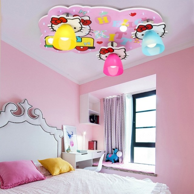 Childrens Room Ceiling Light Cartoon Creative Hello Kitty Girl - Hello kitty lamps for bedroom