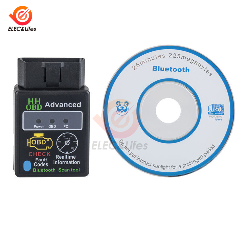 Image 5 - ELM327 V1.5 V2.1 OBD2 OBDII Bluetooth Auto Diagnostic scanner 12V Car motorcycle Code Reader OBD2 adapter 16Pin Extension Cable-in Instrument Parts & Accessories from Tools