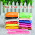 12 Bags Play Foam Light Soft slime Color Clay Model Magic Air Dry slime Plasticine Play Set  Playdough 12 Colors