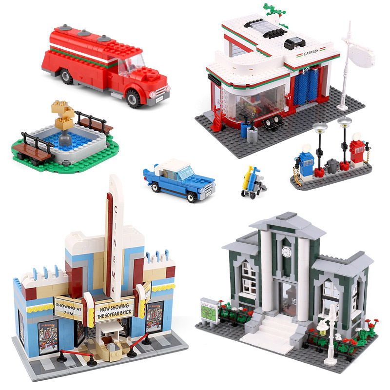 Lepin 02022 Kid Toys 2080Pcs City Toys The 10184 Town Plan Set Building Blocks Bricks New Toys Model For Kids Christmas Gifts