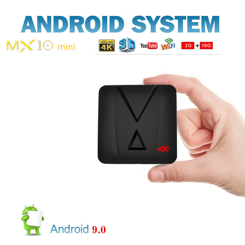 MX10 Mini Android 9 0 Set Top Boxes 2 G 16 G 4K Ultra HD H