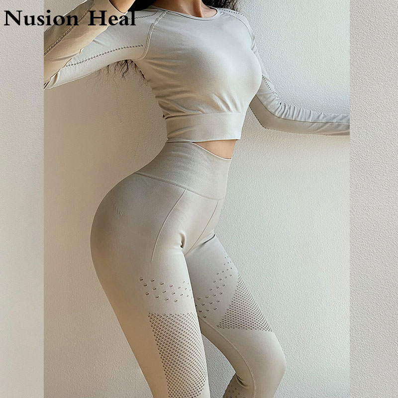 82b5967713 2019 Women Sports Gym Yoga Pants Compression Tights Seamless Pants Stretchy  High Waist Run Fitness Hip Push Up Booty Leggings