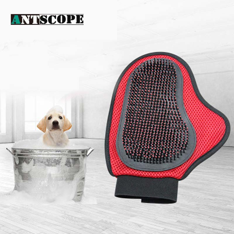 Pet protective gloves cat massage dog massage special gloves can clean pet hair, prevent hair removal clean safety gloves cat and dog pet cleaning massage gloves brush