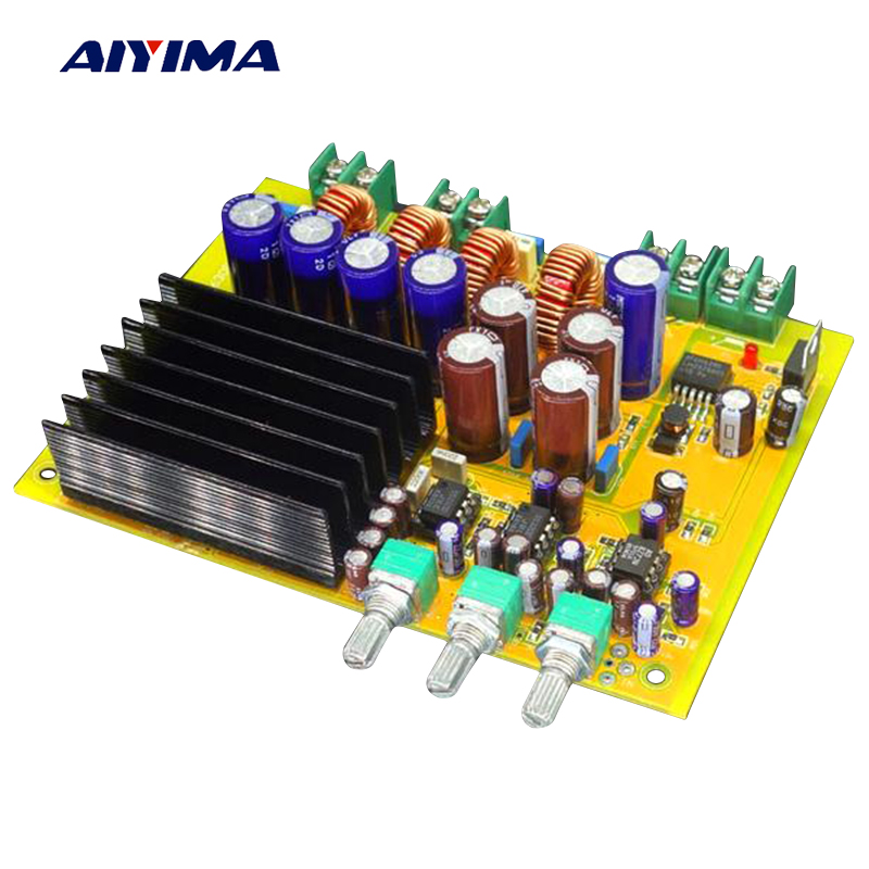 цена на Aiyima TAS5630 High Power Digital Amplifier Board 300W+300W Stereo Audio Amplifier Board AD827 OP AMP