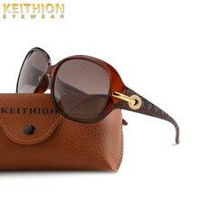 KEITHION Brand Design Polarized Women Sunglasses Vintage Retro Oversized Eyewear UV400 Cat Eye Glasses
