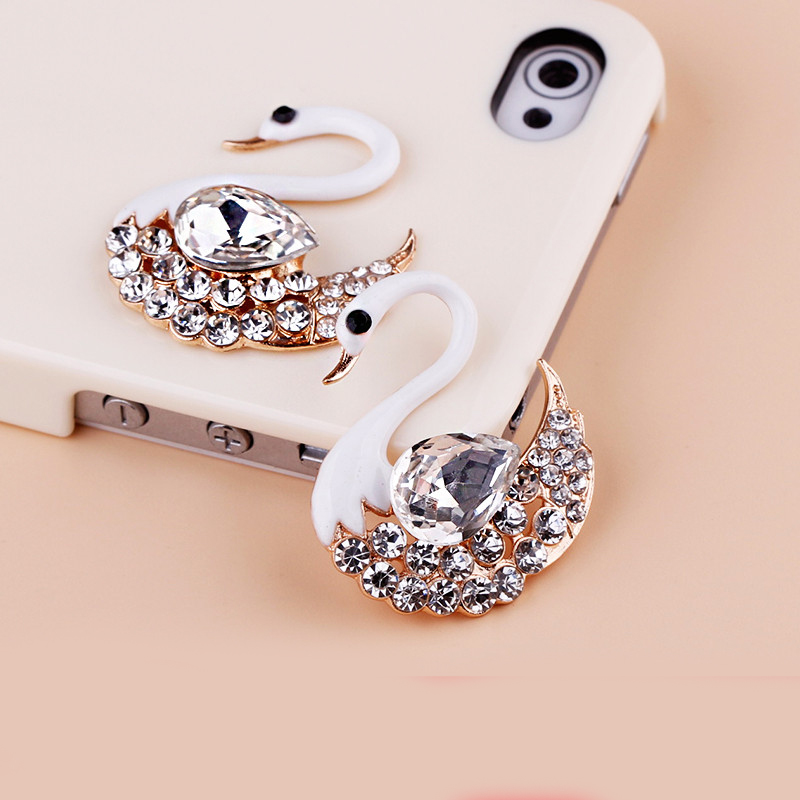 2016New 5Pcs Swan Rhinestone Buttons/Buckle Embellishment ...