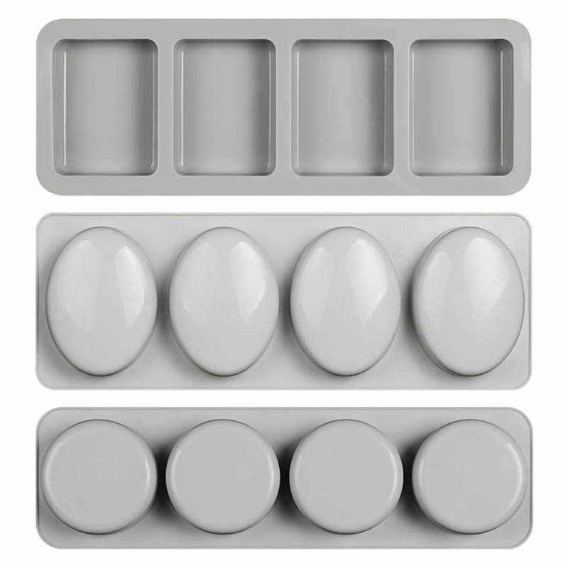 4 Hole Round Shaped Hand Making Tools Soap Mold Silicone Fun Gifts Handmade Soap Making Forms 3D Mould High Quality
