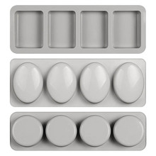 Soap Mold Soap-Making-Forms 3d-Mould Silicone Handmade Round-Shaped 4-Hole Gifts Fun
