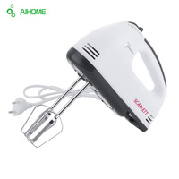 AIHOME 180W Stainless Steel Egg Beater Electric Mixer Hand Mixer Egg Beater 7 Speeds Control With