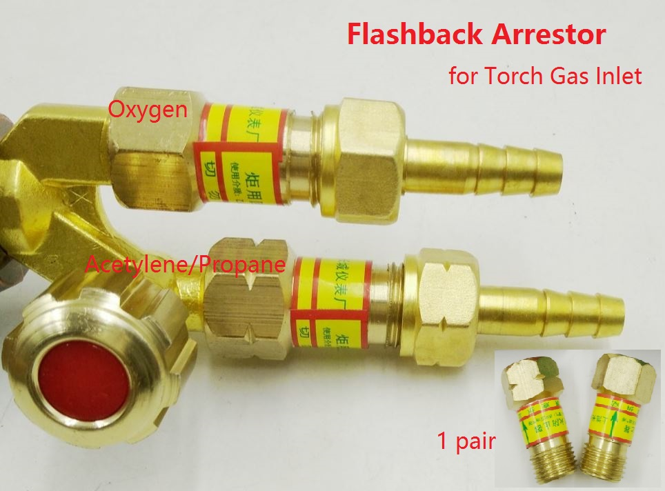 цена Oxygen Acetylene Flashback Arrestor Check Valve Flame Buster M16*1.5 For Gas Cutting Torch Inlet