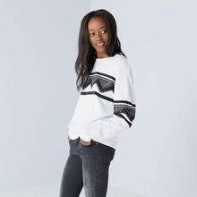 2017 Loose Full O-neck White Women Sweatshirt Hoody Pullover Sportswear Tracksuits Large Size Lady Sports jerseys