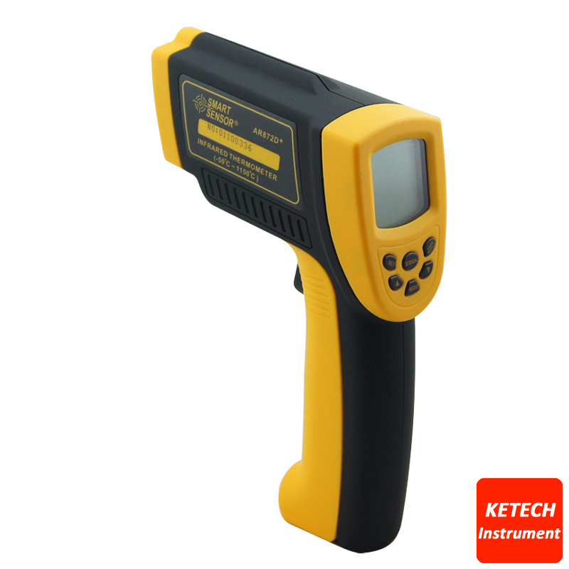 Infrared Laser Non-Contact Digital Thermometer AR872D dt85811h non contact digital infrared thermometer w laser orange black