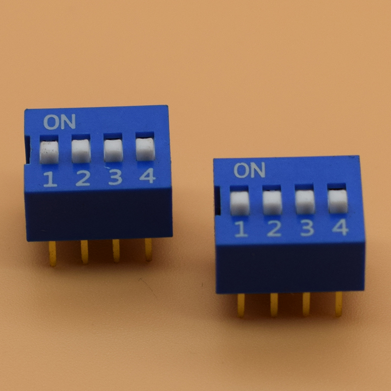 цены на IMC Hot 10 Pcs 2 Row 8 Pin 4P Positions 2.54mm Pitch DIP Switch Blue в интернет-магазинах