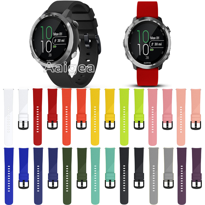 20mm Soft Silicone Watch Strap Band For Garmin Forerunner 645 Music Smart Watch Replacement Colorful Bracelet Wrist band straps стоимость