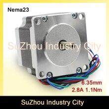 NEMA 23 С ЧПУ шагового двигателя 57X51 мм 2.8A 1.1N.m 157Oz-in шаговый двигатель для Чпу гравировки фрезерный станок для 3d-принтер