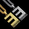 Eminem Colgante E Letra de One Direction Collar Largo De Cristal Accesorio de La Joyería de Hip Hop Rock Cantante Abanicos Souvenir Regalos N144