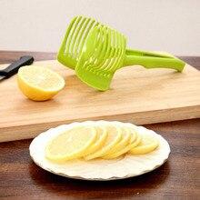 Мода 1PC Пластиковые Лимон Томатный Slicer Томатный Яйцо Круглый Многофункциональный Клип Зажим Кухонные инструменты