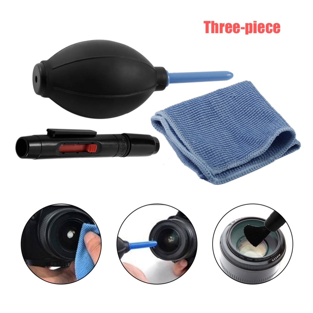 Cleaning Cloth Brush and Air Blower In 1 Set Digital Camera Cleaning kit Dust Photography Professional Cleaner Air Blower-in Camera Cleaning from Consumer Electronics