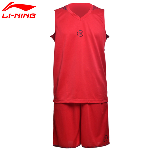 Li-Ning Men's Wade Basketball Sets Wade Performance Competition Uniform Suit 100%Polyester Sports Jerseys Shorts AATM027 MTS2237