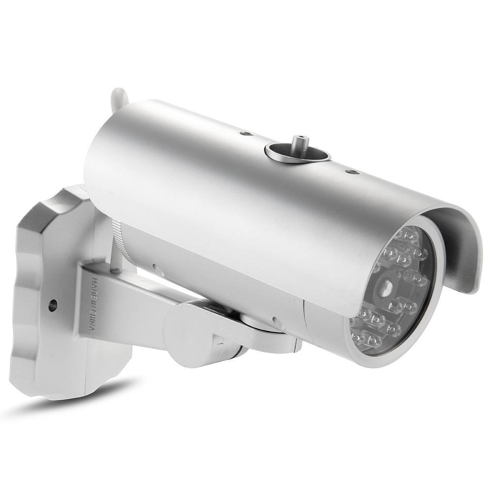 MOOL Dummy Security Camera IR 18 LED CCTV Camera Indoor Outdoor Fake Simulation mool indoor cctv fake dummy dome security camera with ir leds white