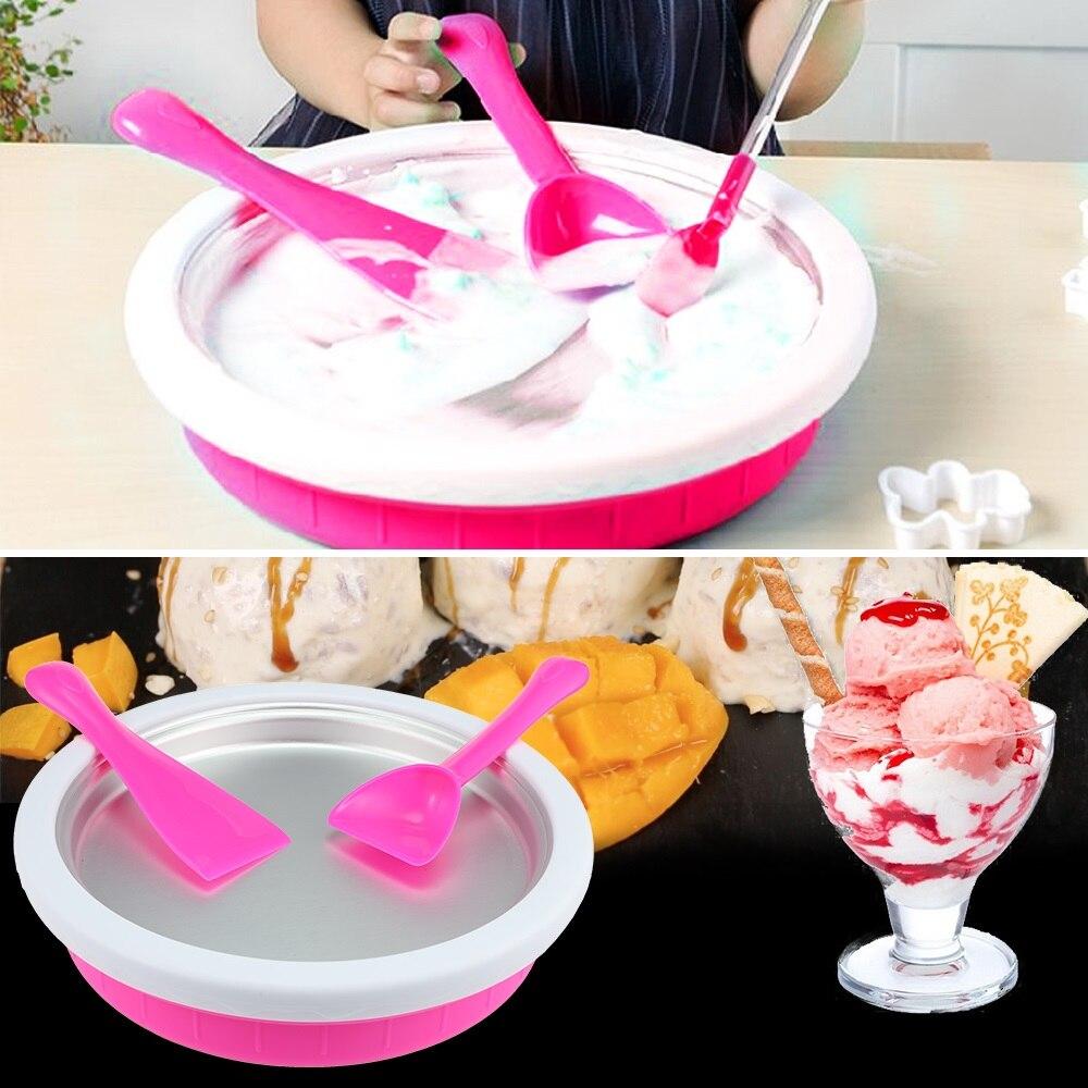 Household DIY Ice Cream Maker Fast Freezing Mini Ice Cream Maker For Sorbets Margaritas Ice Cream silicone quick freezing ice bucket