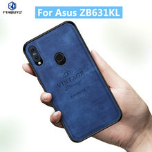 цена на For Asus ZB631KL Original PINWUYO VINTAGE PU Leather Protective Phone Case for Asus Zenfone Max Pro M2 ZB631KL Cell Phone Cover