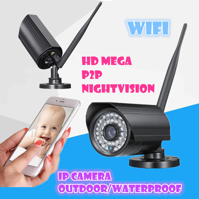 Wireless waterproof outdoor network 720P mega mini Smartlink wifi IP camera Night Vision Plug and Play   128GB SD Card Onvif