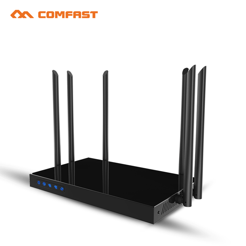 Comfast CF-WR650AC 1750Mbps Dual Band 5.8&2.4G WIFI Router 802.11ac wireless indoor AP router for big area wifi signal coverage comfast full gigabit core gateway ac gateway controller mt7621 wifi project manager with 4 1000mbps wan lan port 880mhz cf ac200