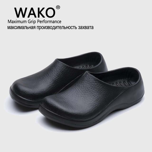 bastante agradable d4a93 e4e14 Aliexpress.com: Comprar Wako nuevos hombres chef cocina trabajo Zapatillas  jardín Zapatos verano transpirable playa con Zapatos mules zuecos hombres  ...