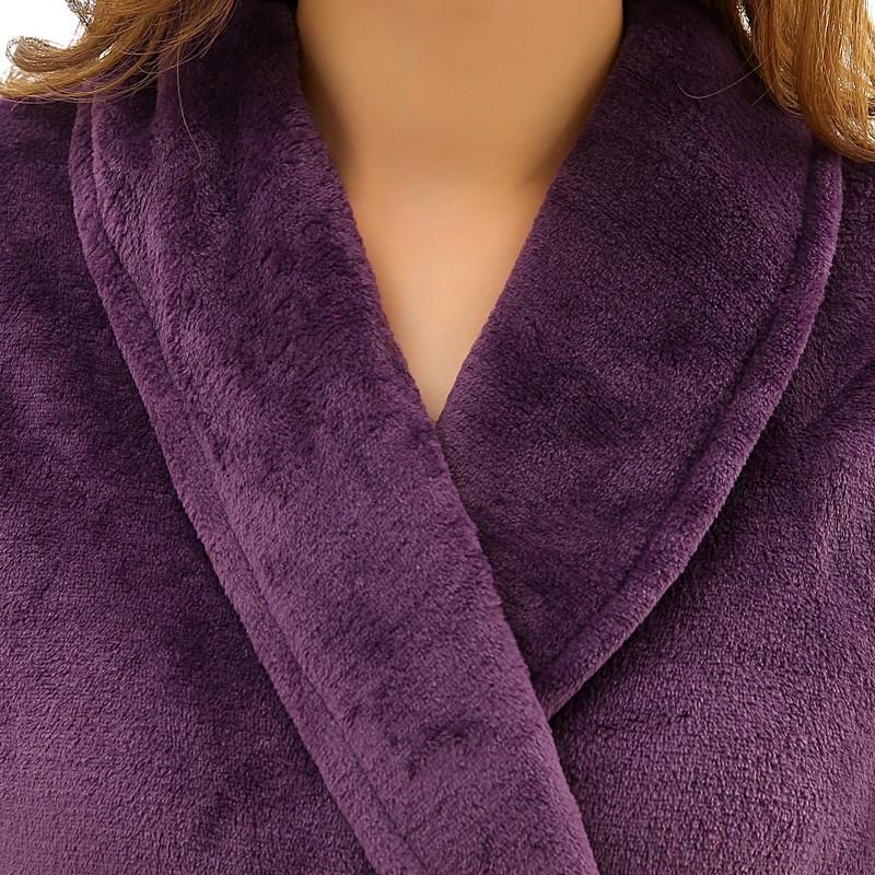 Unisex Mens Women\'s Long Polyester Sleep Lounge Robes RBS-C LYQ114 34