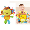 2016 New Kawaii Baby Toys 0-12 Months Newborn Mobile Baby Rattle Educational Toy For Kids Soft Stuffed Animal Monkey Peluches