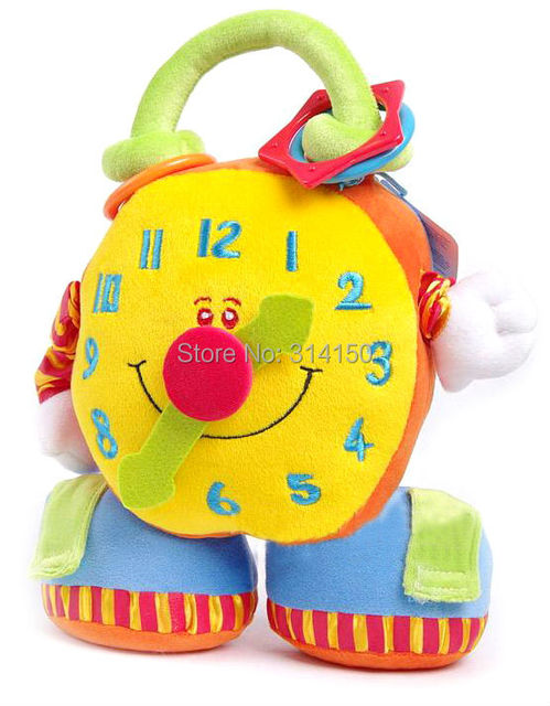 1pcs/lot New hot sale baby toys children's soft comfortable  clock toy